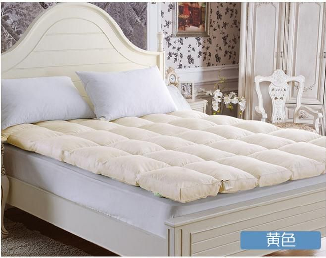 10 см толщиной Утка вниз матрас двуспальная кровать хлопка оболочки гусь вниз матрас 200*230