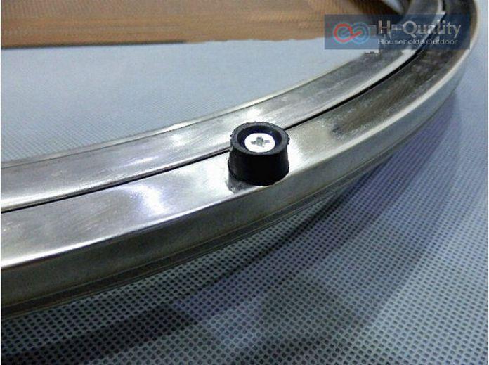 Прочной нержавеющей стали ленивый сьюзен проигрыватель поворотной плиты кухонная мебель внешний диаметр 350 мм ( 14 дюймов ) тяжелый груз гладкая довольно