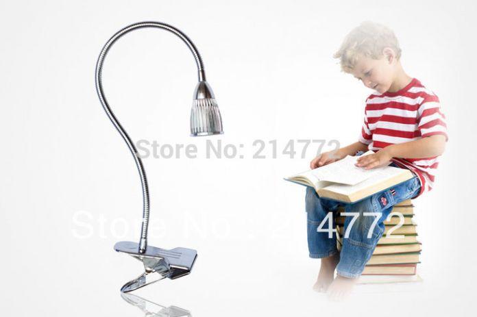 3 * 3 Вт высокой мощности из светодиодов настольная лампа клип настольные лампы для чтения для постельного бесплатная доставка