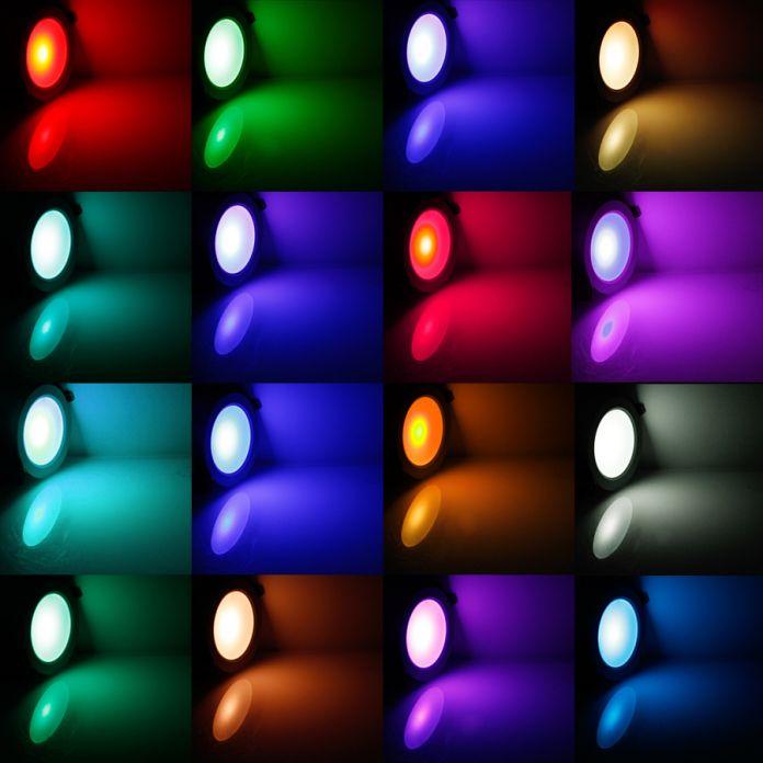Супер 5 Вт/10 Вт RGB СВЕТОДИОДНЫЙ Потолочный Свет Панели AC85-265V 24 Цвет Светильник Лампа с Дистанционным Управлением бесплатная доставка