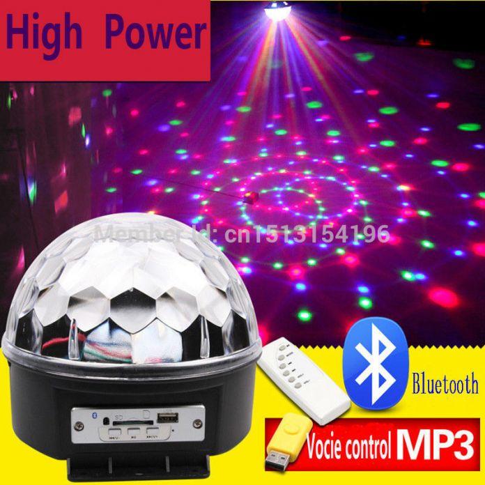 18 Вт Bluetooth из светодиодов дискотечный шар света дистанционное управление музыка шар сценический эффект soundlights DJ магический шар проект лазерная ну вечеринку огни