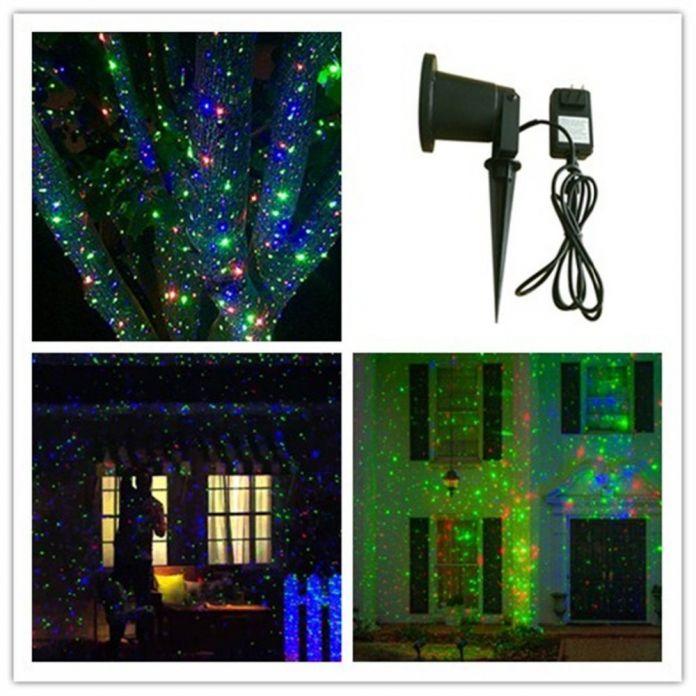 2016 новые продукты IP 65 открытый Рождественская звезда проектор лазерного света душ Перемещение Мерцание RGB Свет Проектора Пейзаж света
