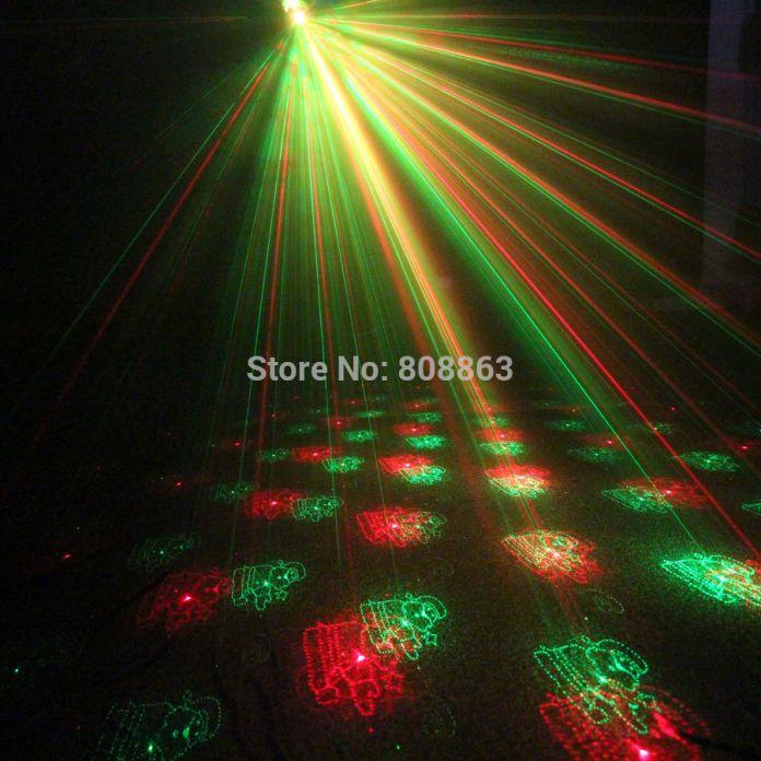 Мини Красный Зеленый Лазерный 6 модели Рождество Проектор Партии DJ освещение Диско Bbar Танец Рождество Свет Этапа Показать Штатив XL79