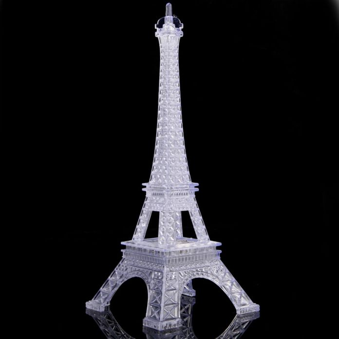 Горячая распродажа романтический творческий эйфелева башня стол спальня ночник украшения подарок бесплатная доставка