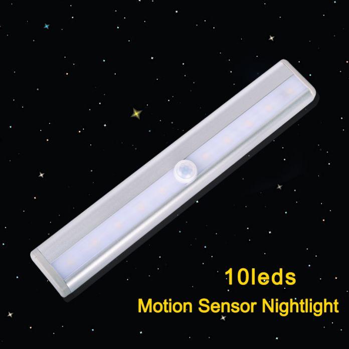 Motion Датчик Светодиодный Свет 10 светодиодов LED Night Light Беспроводной ПРИВЕЛО бар свет Лампы С ИК Motion Detector For Cabinet книжный шкаф