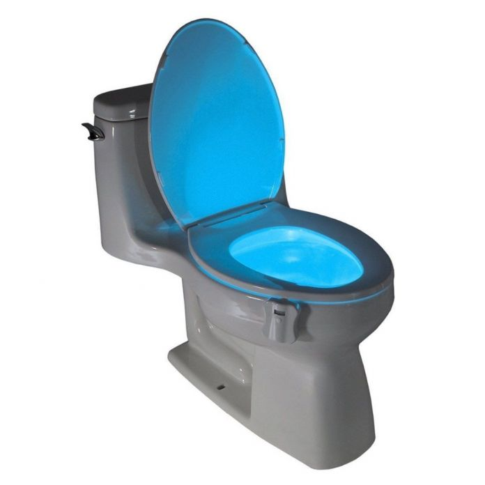 Человека Motion Датчик Автоматического Унитаз Свет Чаша Ванной Комнаты Night Light 8 Цвет Лампы