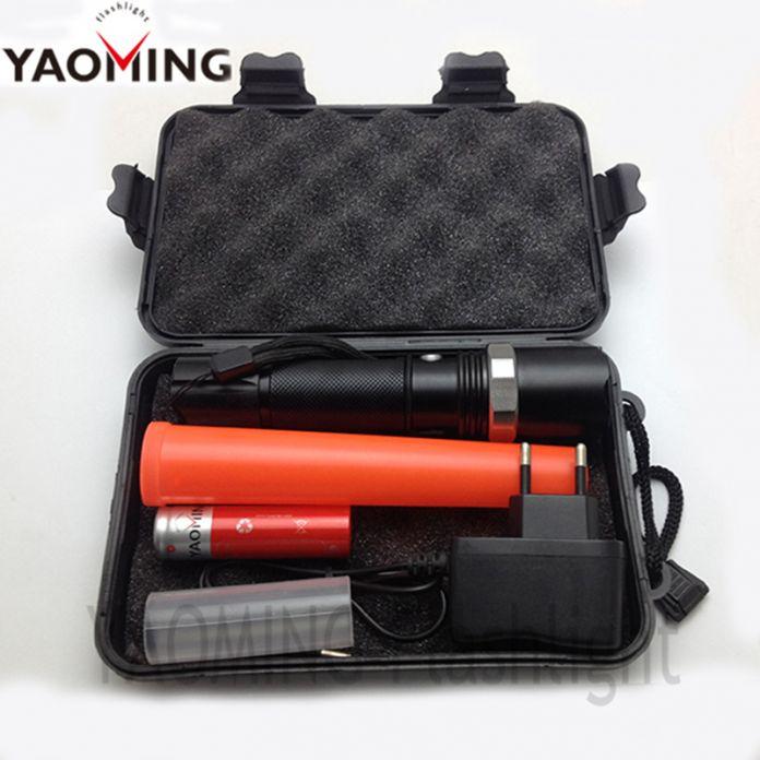 Коробка подарка CREE XM-L Q5 масштабируемые светодиодный фонарик трафик палочка факел тактический фонарь, лампа для полицейская дубинка с 18650 и зарядное устройство
