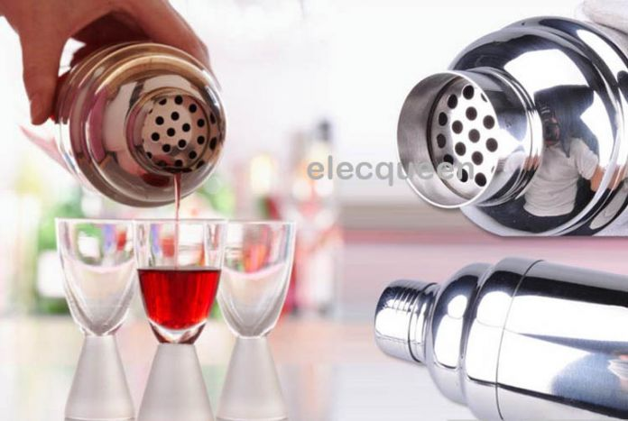 4 шт./компл., шейкер инструменты набор хип колбу из нержавеющей стали 350 мл 550 мл шейкер лед щипцы мерный стакан
