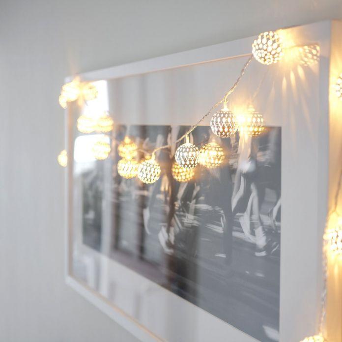30LED Фея Металла свет с Серебряной железный шар Атмосферу освещение украшения для свадьбы/рождество Великого для Партии, спальня Декор