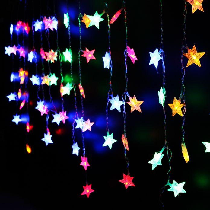 Светодиодные строки Свет маленькая звезда новогоднее украшение 3.5 М AC 220 В led лед полоса Новый год для использования в помещении свет гирлянды светодиодные luminarias КМ