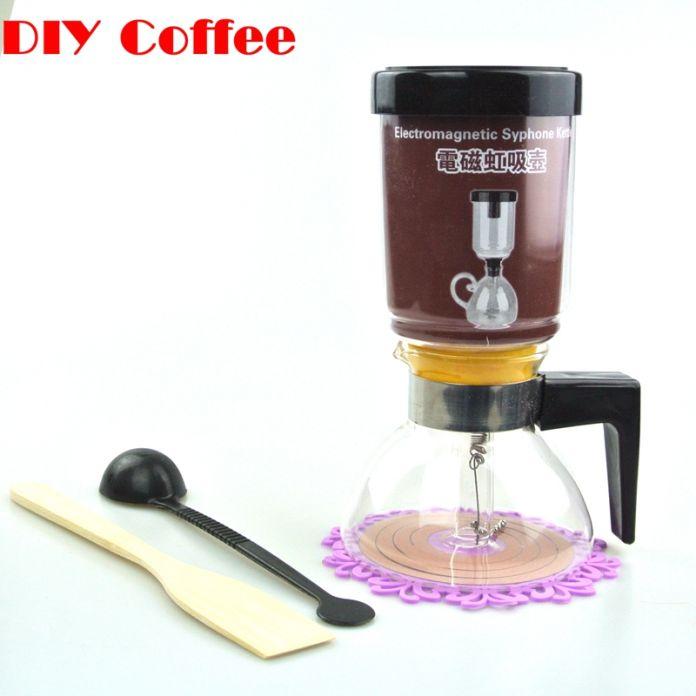 1 шт. высокое качество 3 - 5 чашки (чашек) чай сифон стекло кофеварка кофеварка электромагнитная сифон чайник