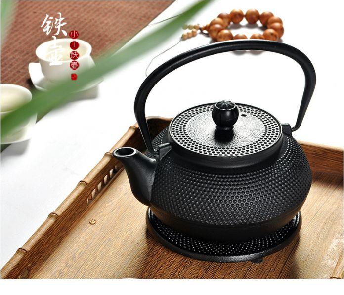 Японский Чугун Чайник 0.3L 0.6L 0.7L Железного Чайника До Кипения вода Чай Инструмент Металлический Сетчатый Фильтр Чайник Чайный Набор Бесплатная Доставка
