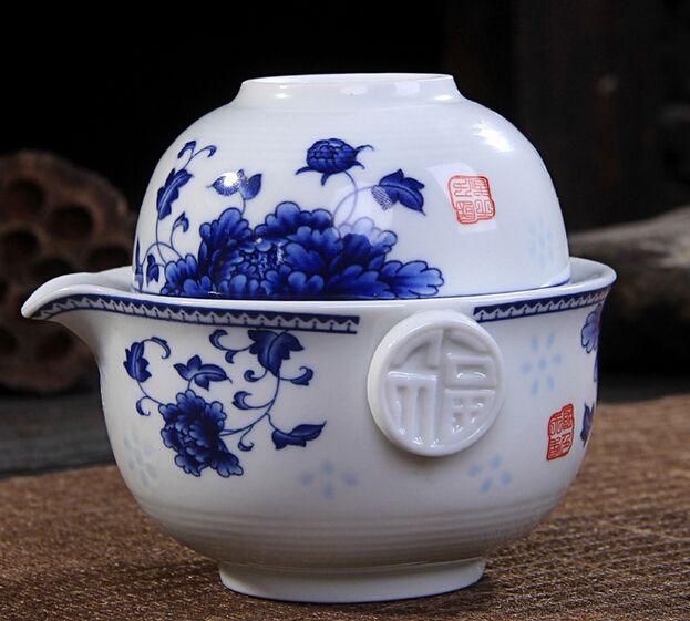 Кунг-Фу Чайный набор Включает 1 Баночка 1 Чашки, высокое качество элегантный gaiwan, Красивый и легкий чайник чайник. Кофе Cup. free доставка