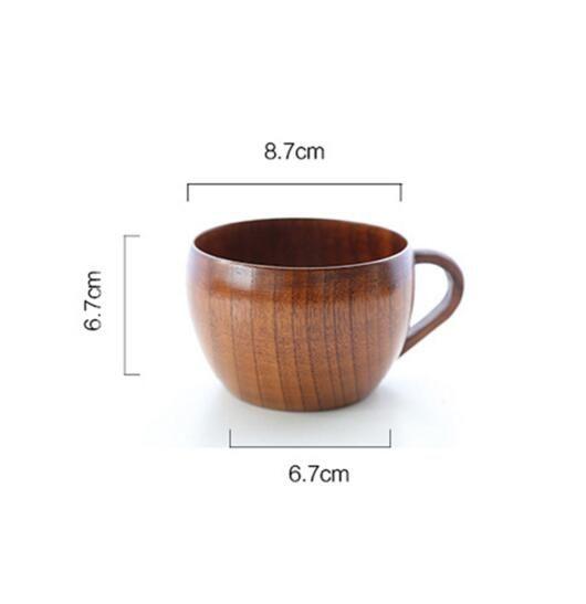 260 мл Деревянная Чашка Пива Посуда Пивной Кружки С Рукоятки Обеденный Чашки Бар Посуда Экологически Чистые 1 шт.