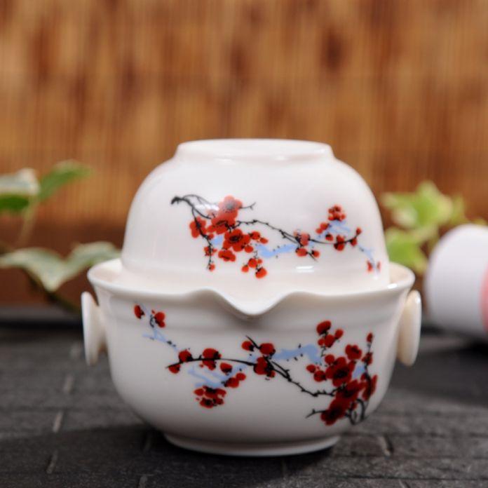 Китай хороший продукт kuaikebei Кунг-Фу Чайный набор Включает 1 Баночка 1 Чашки, высокое качество элегантный gaiwan, Красивый и легкий чайник чайник