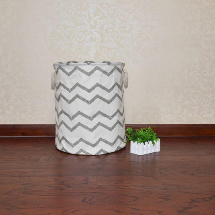 40*50 см Грубая шпагат хлопок водонепроницаемый chevron сумка для хранения, Мебель ручки игрушки одежда детская комната может стоять баррель хранения