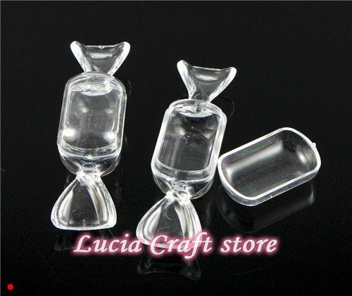9*2.3*2.5 см форма Ириски прозрачные пластиковые коробки конфет окно 2 шт./лот 030007017