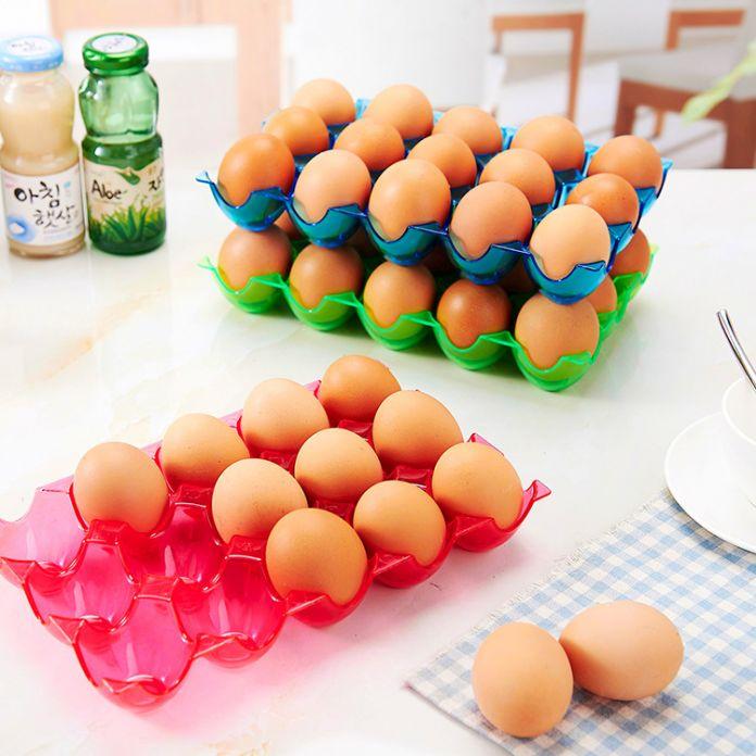 2016 Мода Яйцо Лоток Для Хранения Кухня Утолщаются Яйцо Ящики Для Хранения Ящик Для Хранения Яйцо Уход Защита Небьющегося Яйцо Коробка 15,24 Сетки