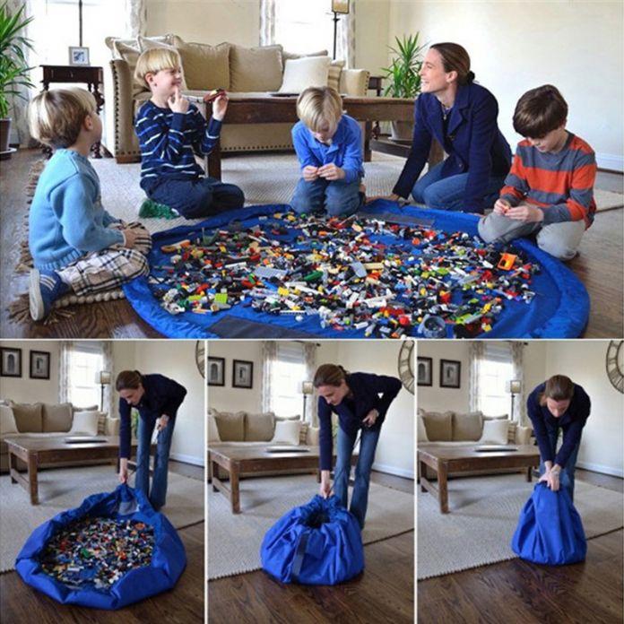 Портативный дети ребенок младенец играть мат большие сумки хранения игрушки организатор одеяло коврик боксы для игрушки S-XXL ST001