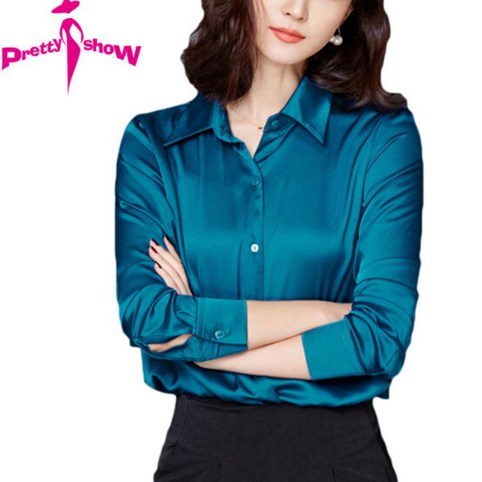 Женщины Офис Топ И Блузка 2016 Мода Офис Рубашки Осень Дамы Плюс Размер Одежды С Длинным Рукавом Павлин Топы Формальные Blusa