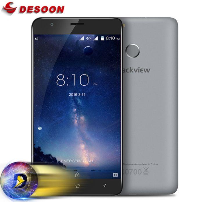 Чехол + Наушники) Подарки! Blackview E7S Мобильный Телефон 3 Г WCDMA Android 6.0 MT6580A 2 ГБ + 16 ГБ 8MP 2700 мАч Считывателей Отпечатка Пальца ID Мобильного Телефона