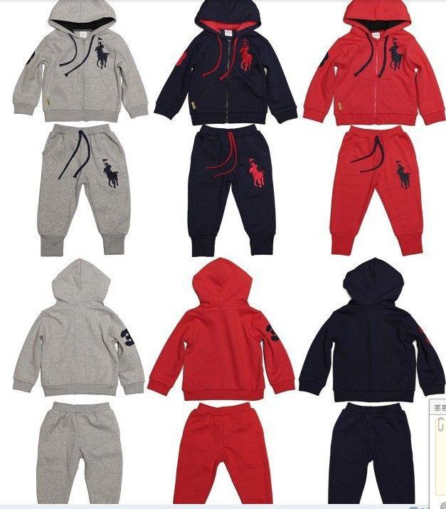 Дети весна осень досуг костюмы мальчиков / девочек куртка с капюшоном + свободного покроя брюки комплект легкой пробежки спортивная одежда размер 2 т - 7 т