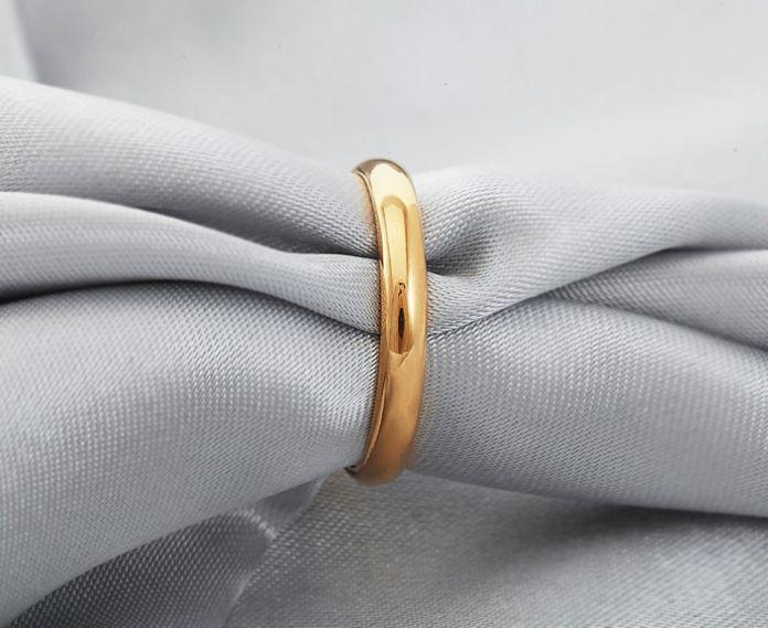 U7 Позолоченные Обручальные Кольца Для Женщин / Мужчин Ювелирные Изделия Оптом Классический Кольца Подарок Для Двоих R302