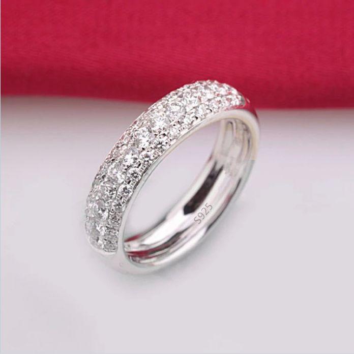 Обручальное кольцо белый позолоченный цирконий ювелирные изделия с бриллиантами валентина подарок для девочки обручальное кольцо DD037