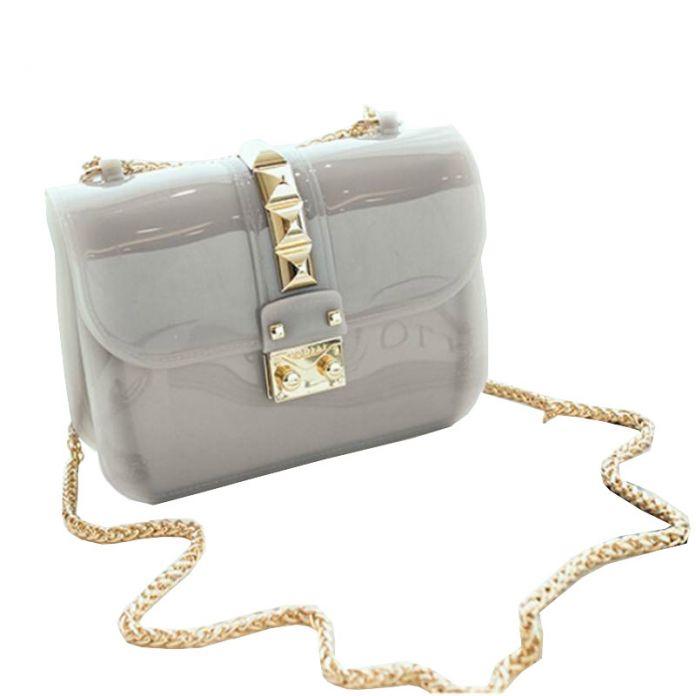 2016 Новых женщин сумка furly конфеты сумки желе телефон песчаный пляж мини сумка Лето Прозрачный пакет bolsa мешок конфет WB413