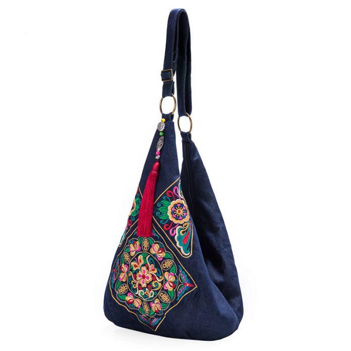 Дизайн персонажей Китайском стиле вышивка сумка этнические сумки женщин crossbody сумка хобо bolsas etnicas