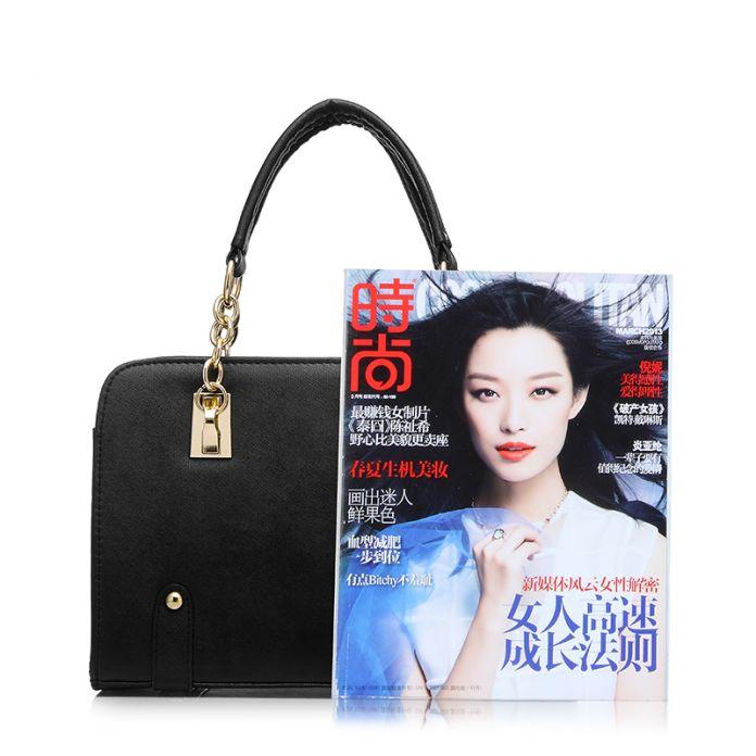 REALER бренд мода сумка женская через плечо искусственная кожаная сумка, женские сумки с короткими ручками, черная сумка ранец с ручкой в виде цепочки