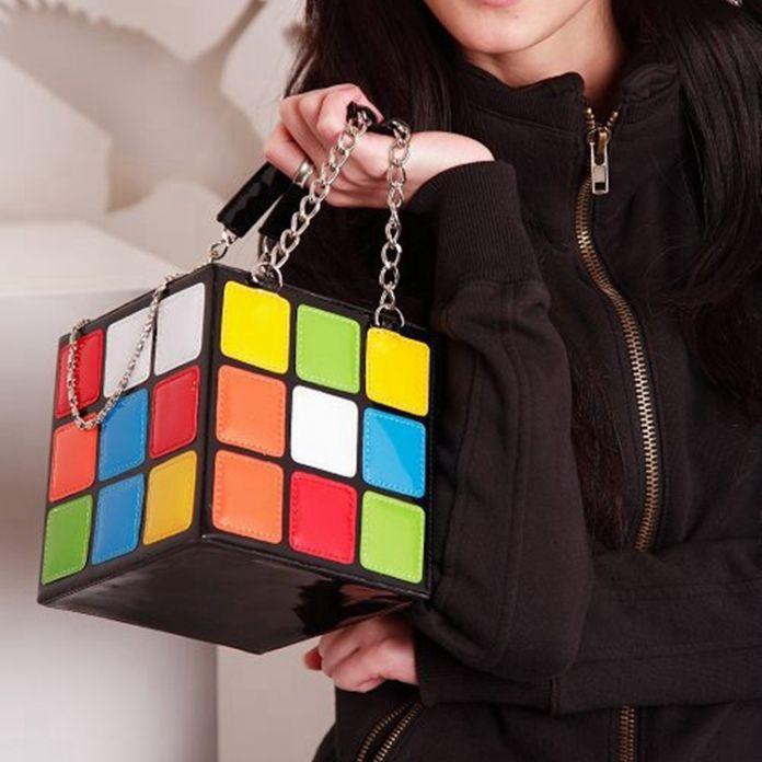 Женщины Сумку Кубик рубика 2016 Симпатичные Magic Cube Сумочка Сумочка Кошелек мода Цепи Сумки женщины сумка Tote Сумки Bolsos Де Мано