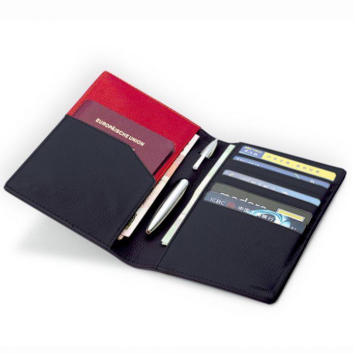 Современная - роскошный новое 100% корова натуральная кожа организатор мужчины кошельки карты заграничного паспорта бумажник женщин известный дизайнер