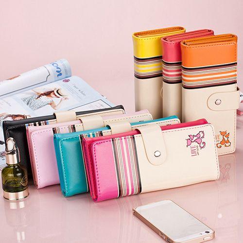 2016 женщины длинные клатч искусственной кожи бумажник кошелек чековая книжка монет сумка карты сумочка 7 цвета BW6M