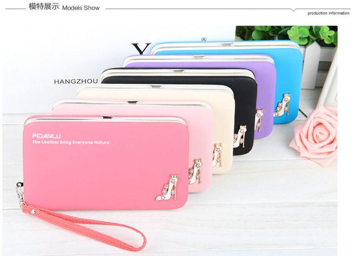 Новый стиль женские туфли на Высоком каблуке пенал бумажник Г-Жа Lunch box стиль кошелек Мобильный Телефон Мешки Бесплатная Доставка доставка 1311