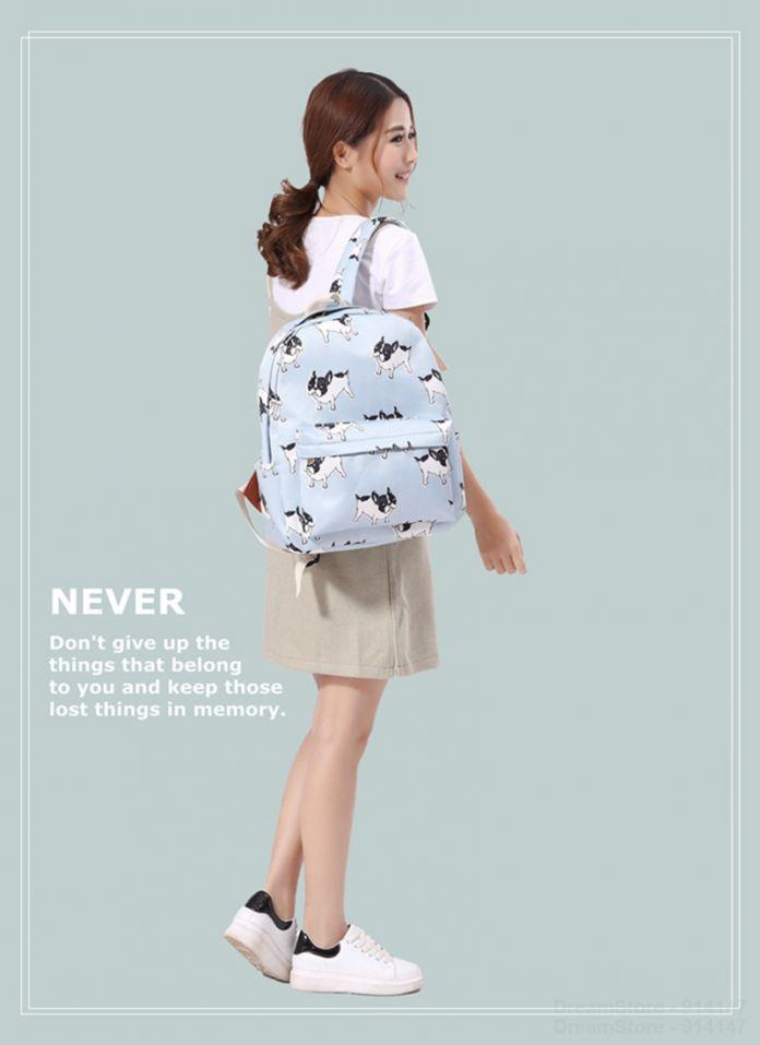2016 девушки женщины милая собака холст рюкзаки школьный рюкзак рюкзакмедицинский дорожная сумка Bookbag характер рисунок очарование Mochila