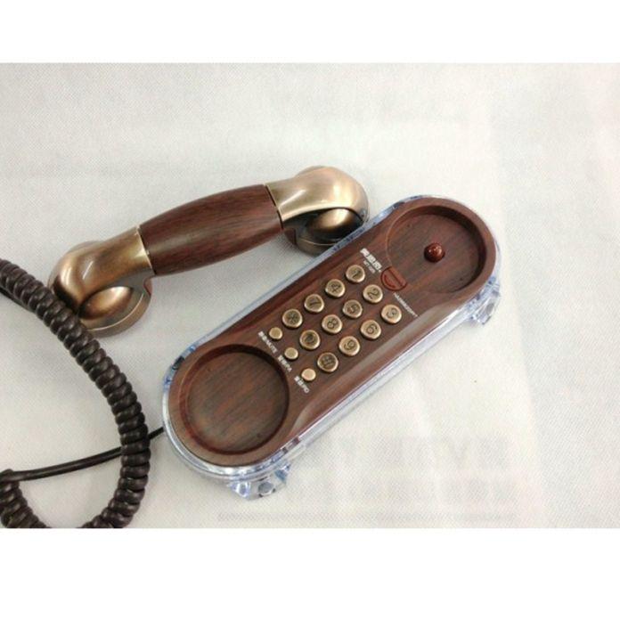 Мода Настенный Шнуровой телефон Телефон Телефон Антикварные Ретро Телефоны Для Дома Отель Небольшой Дополнительный Телефон