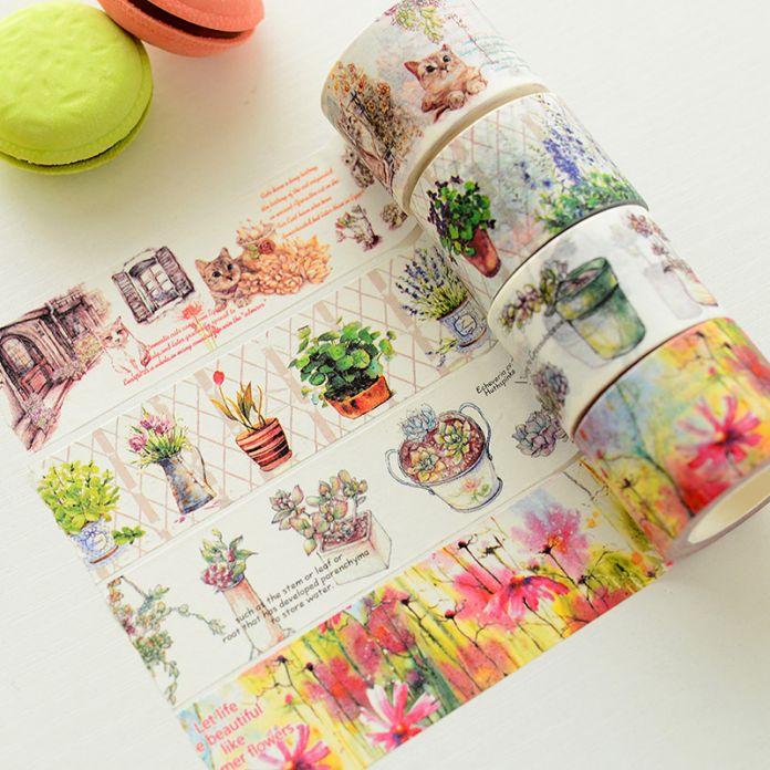 10 20 25 30 мм x 10 м японский васи лента скрапбукинга наклейки маскировки декоративную скотч для открытки планировщик Papeleria