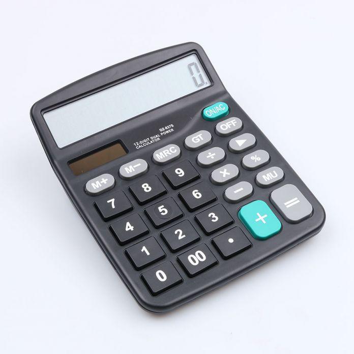 Солнечный Калькулятор Бизнес Работа Рассчитать Коммерческий Инструмент Батареи или Солнечные 2in1 12 Цифр Электронный Калькулятор и Кнопки