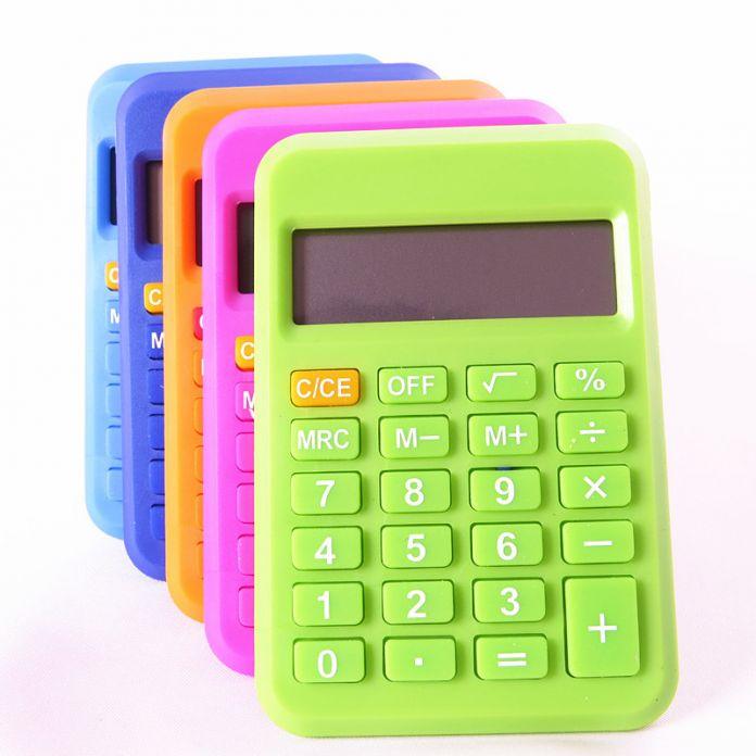 2016 Новые Товары Для Офиса Студент Мини Электронные Разрядный Калькулятор Конфеты Цвет Расчета
