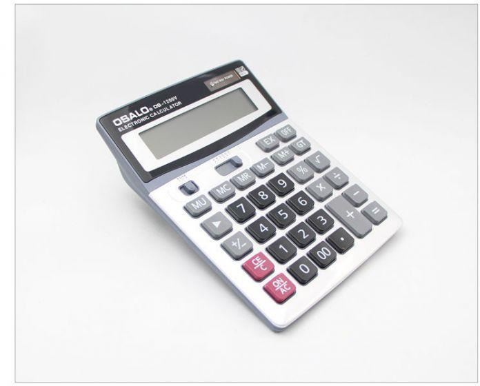 Супер Качество ОС-1200V электронный Калькулятор 12 Цифр канцелярских компьютер С Большая Кнопка Большой Дисплей Как Подарок