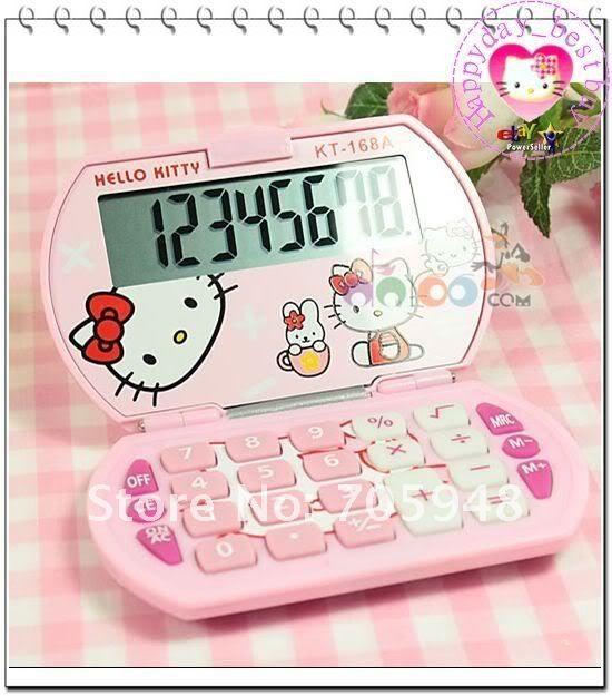 БЕСПЛАТНЫЕ КОРАБЛЬ МИНИ 9x5.5 см sanrio Hello kitty hellokitty РОЖДЕСТВЕНСКИЙ подарок карманный электронный цифровой базовой калькулятор канцелярских розовый белый