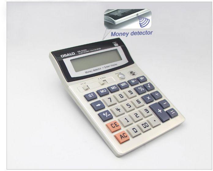 OS-2000 12 Цифр Офисная техника Электронный Калькулятор с Зеленый Свет Дисплей