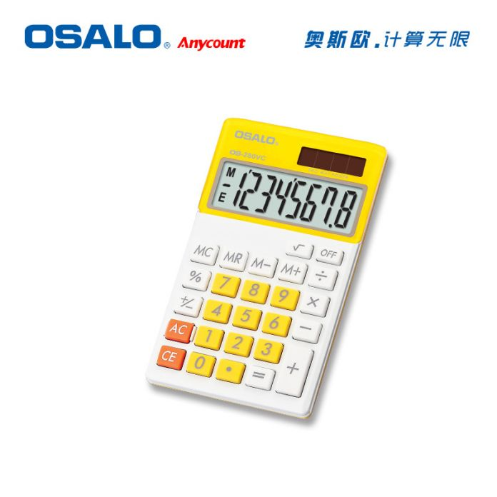 OS-280VC Мини Калькулятор Двойной Солнечной Энергии Портативный Карманный Calculadora, Ученик Школы Функция Расчета