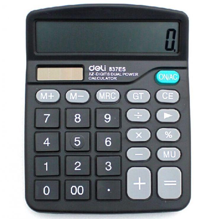 Дешевые Dual Power Поставщик Солнечное Зарядное Целом Калькулятор DL-837 Ручной Подарок Calculadora Офис Hesap Makinesi Бесплатная Доставка