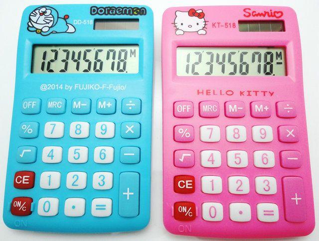 2016 Новый Мультфильм Мини Настольный Калькулятор Hello Kitty & Doraemon Двоевластие 8 Дисплей LED НАЛОГ Calculadora Cientifica для Студента