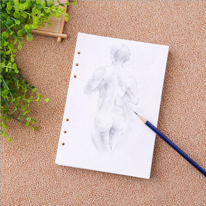A5/A6 Спираль Notebook Наполнитель Бумаги Для Filofax Diario Планировщик Внутренних Страницах Замена Офисные Аксессуары Связующего Книги Бумаги