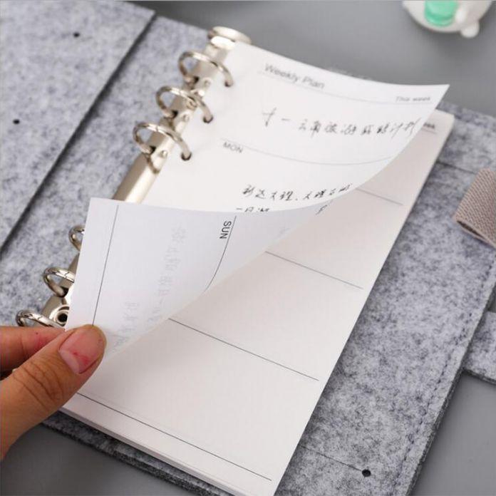 A5/A6 6 Отверстия Основной Тип Рук Тетрадь Наполнителя Бумаги Связующего Планировщик Аксессуары Внутренний Наполнитель Бумаги для Filofax