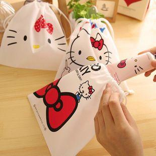 Hello Kitty Kawaii Строка Канцелярские Косметика Для Макияжа Сумка Игрушка в Подарок Мешок Карты и Держателя Примечания Хранения Канцелярские Подарочные Пакеты