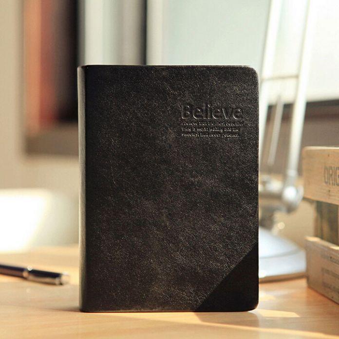 1 шт./лот старинные толстая тетрадь библия дневник черный ретро PU покрытия золотой край 320 лист(ов) ON004